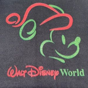 Walt Disney World Vtg Christmas Mickey Mouse XXL